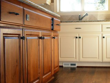 Palmer Pro finishes cabinets in Richards