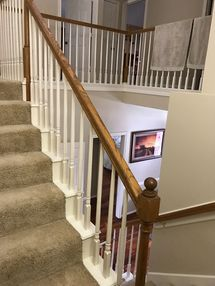 Before & After Bannister Painting in Houston, TX (1)