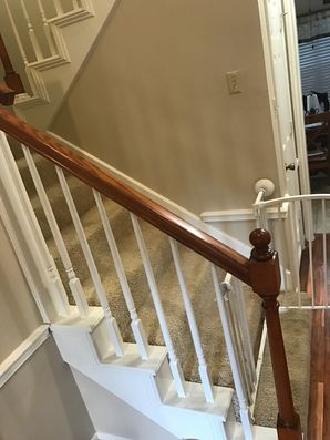 Before & After Bannister Painting in Houston, TX (3)
