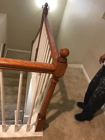 Before & After Bannister Painting in Houston, TX (6)