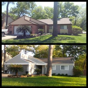 Before & After Exterior Painting in The Woodlands, TX (1)