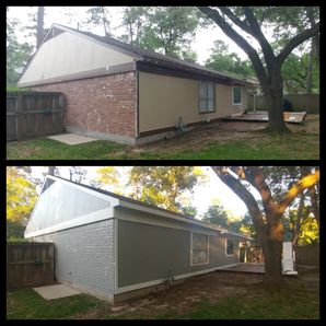 Before & After Exterior Painting in The Woodlands, TX (2)
