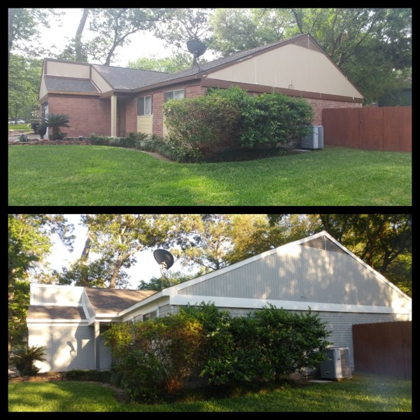 Before & After Exterior Painting in The Woodlands, TX (3)